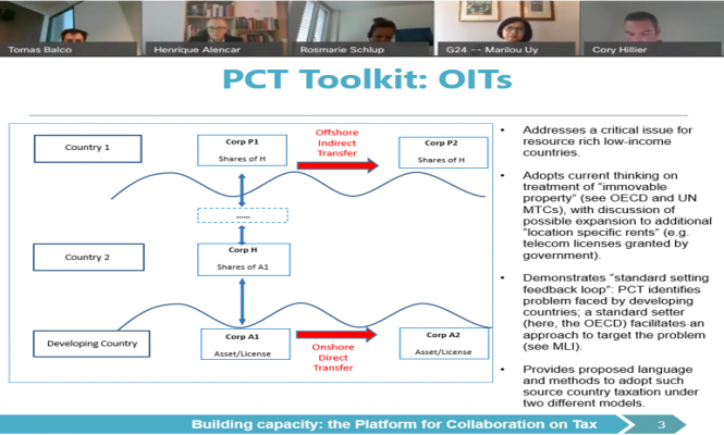 image of panelists and a slide on OIT Toolkit