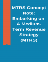 cover page of the medium term revenue strategy (mtrs) concept note